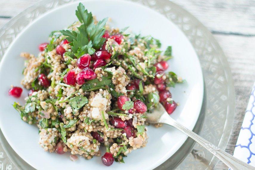 Quinoa mit Feta und Granatapfel