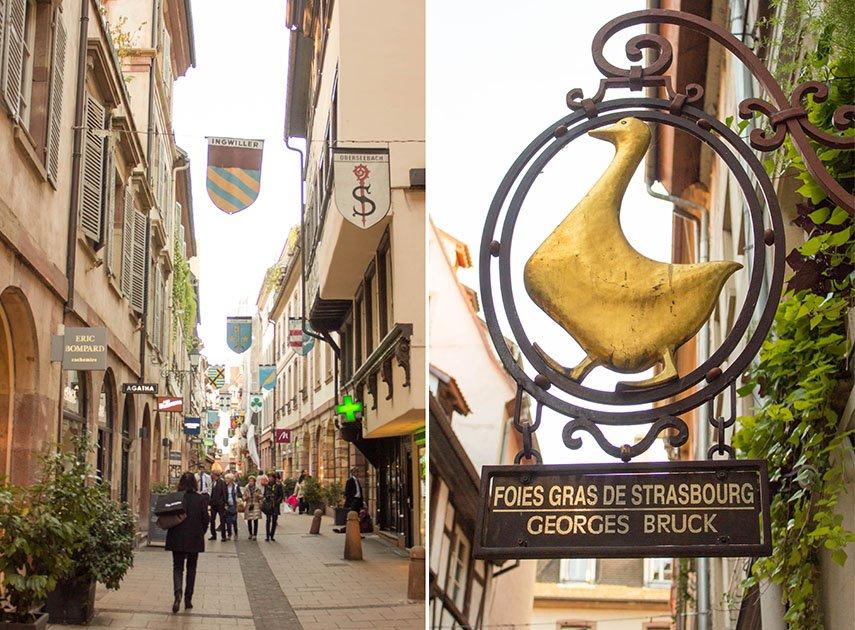 Delikatessen Straße in Straßburg