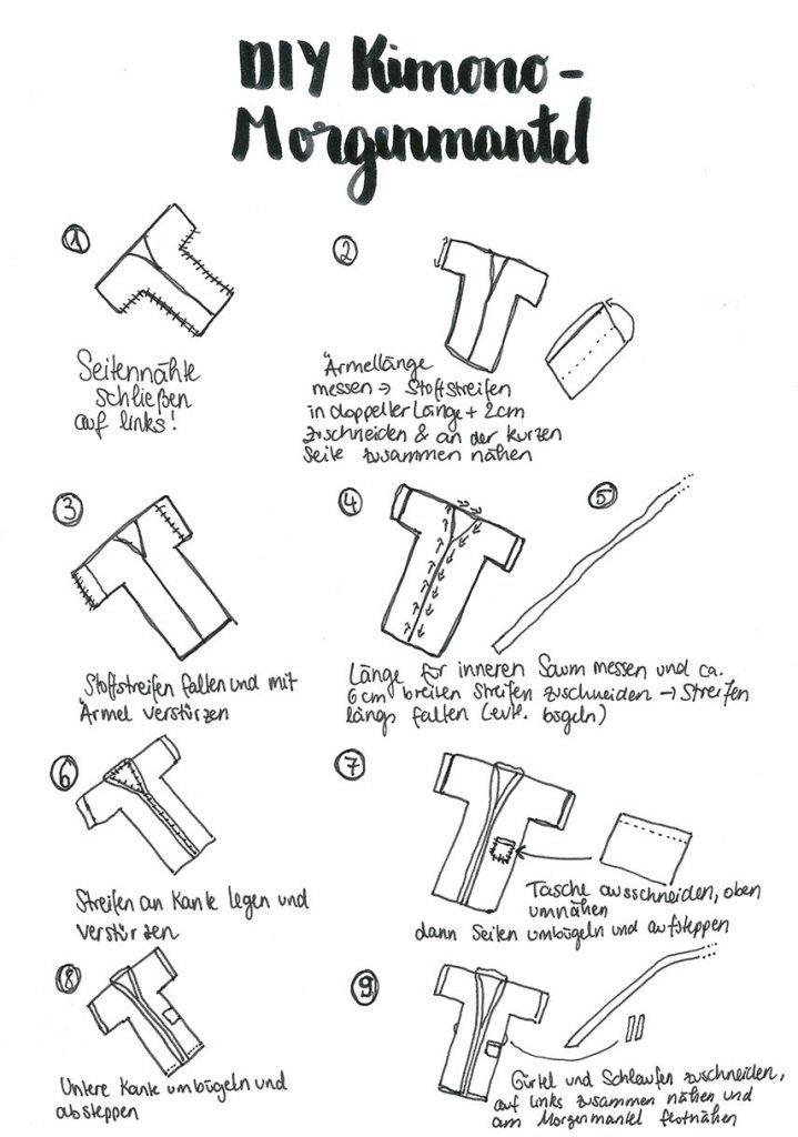 DIY Kimono-Morgenmantel nähen | ars textura – DIY-Blog