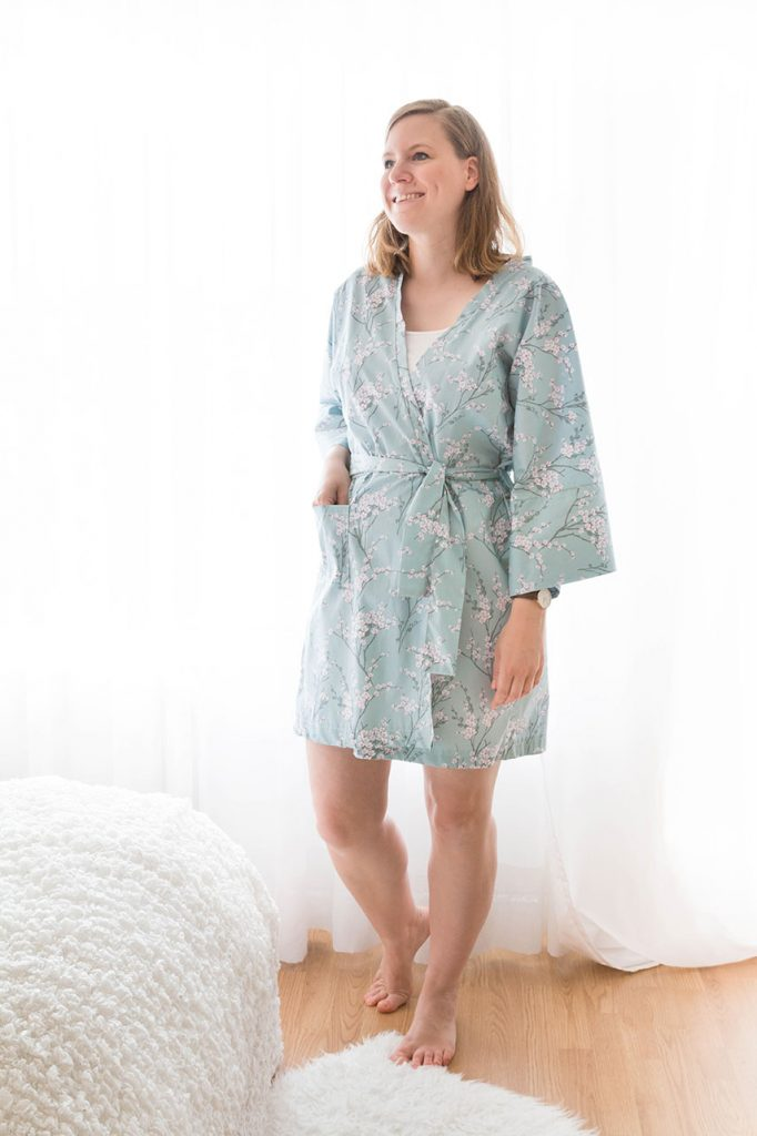 DIY Kimono-Morgenmantel nähen | ars textura - DIY Blog & Food
