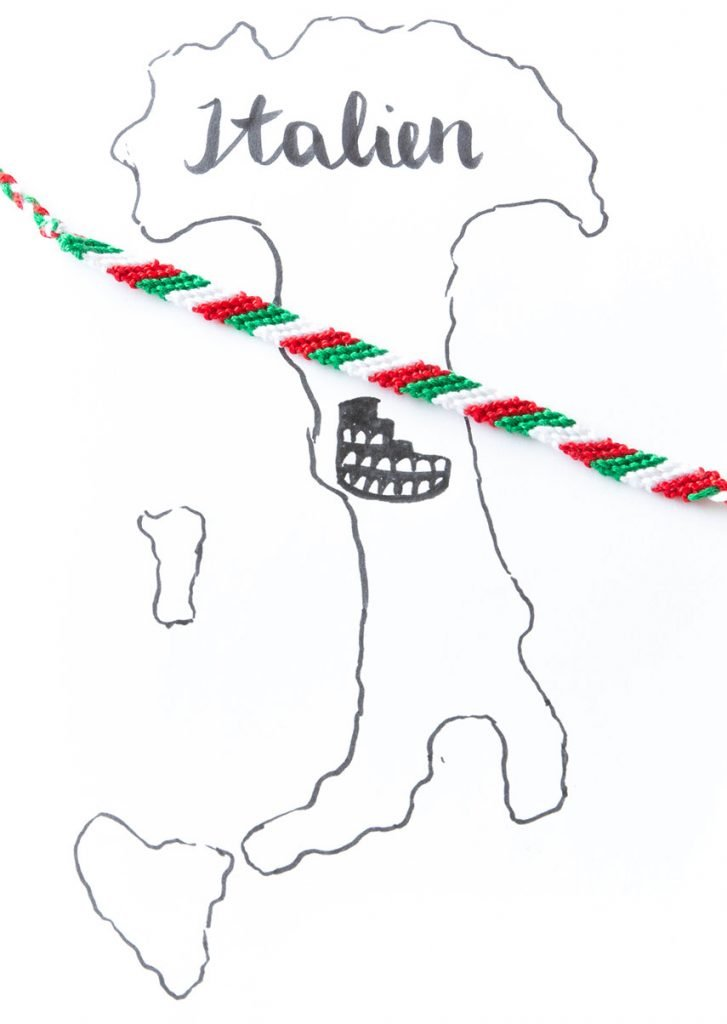 Nationalfarben Armband Italien