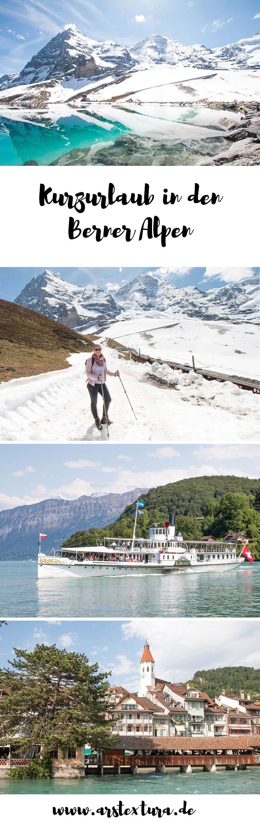 Tipps für einen Kurzurlaub in den Berner Alpen - wandern und Städte Tripp