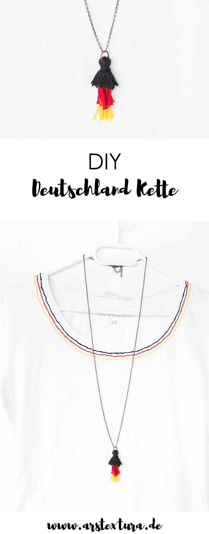 DIY Deutschland Kette basteln für die WM-Party - einfache Quasten Kette basteln | ars textura - DIY Blog