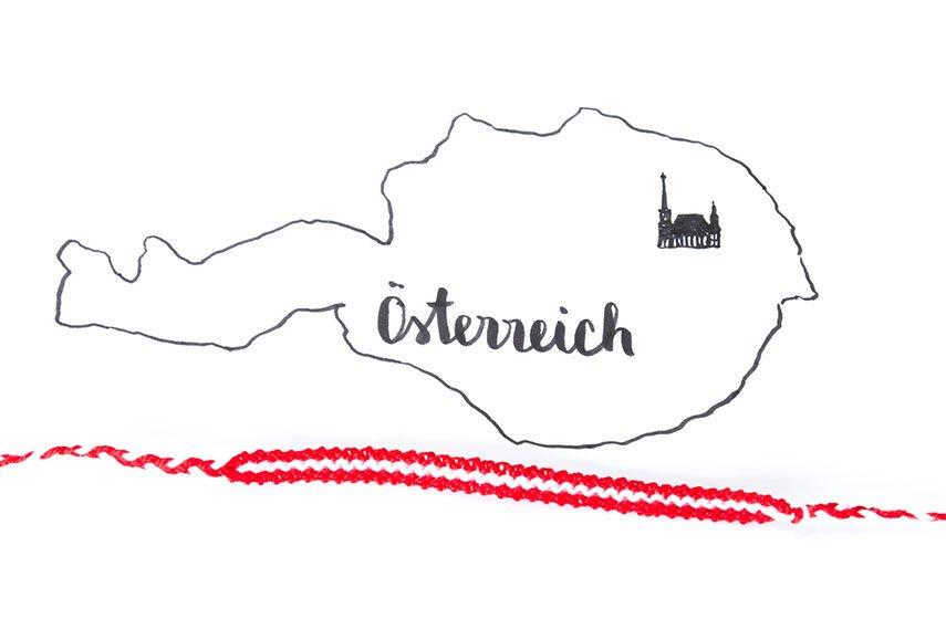 Österreich Armband knüpfen