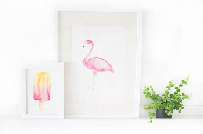 Gratis Flamingo Printable