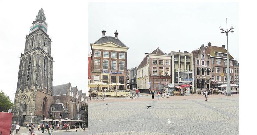 Groningen: Martinikerk und Grote Markt