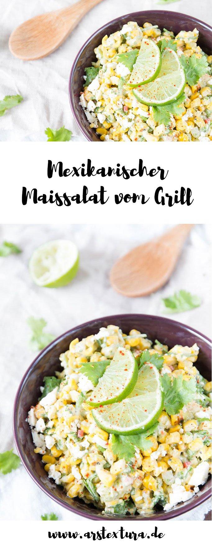 Mexikanischer Mais Salat vom Grill eine tolle Grillbeilage für deine nächste Grillparty