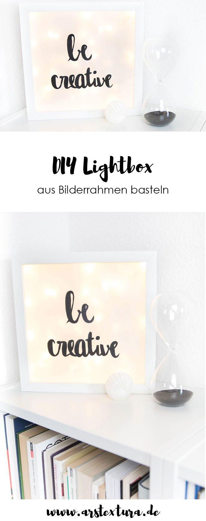 DIY Lightbox aus Bilderrahmen basteln: ein toller Ikea Hack
