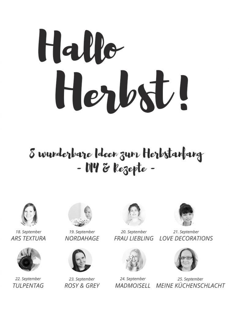 Hallo Herbst - 8 wunderbare Ideen für den Herbstanfang - DIYs und Rezepte