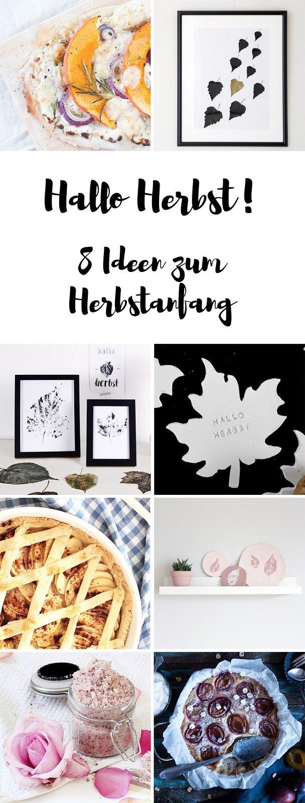 Acht wunderbare Ideen zum Herbstanfang