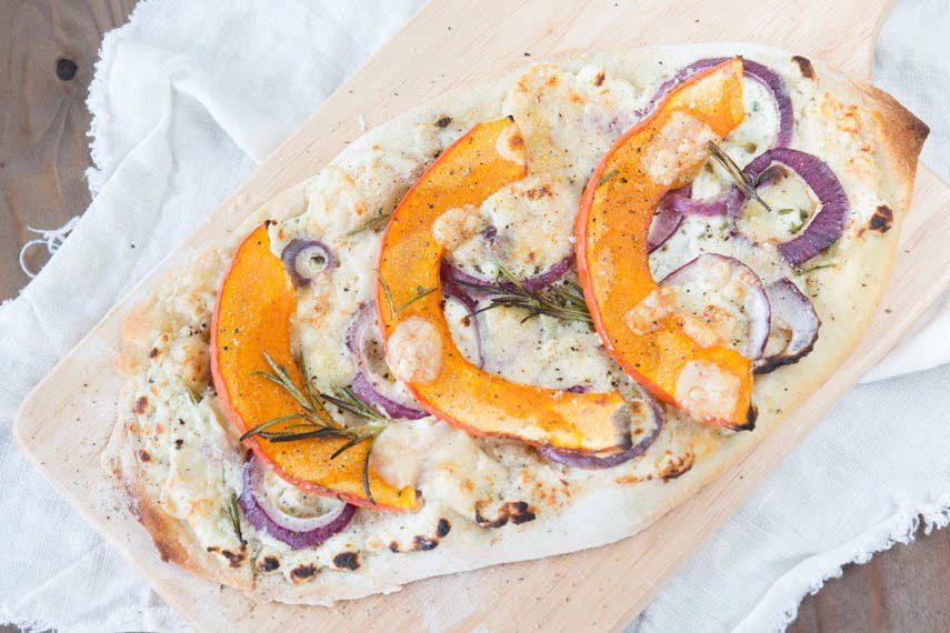 Kürbis Rezept: Pizza mit Kürbis - perfekt für den Herbst