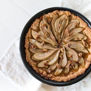 Birnen Rezept: Herbstliche Birnen Tarte
