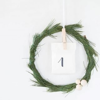 DIY puristischer Adventskalender