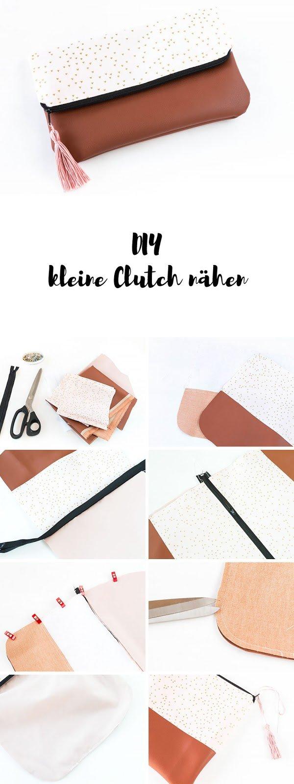 Clutch nähen für Anfänger mit gratis Schnittmuster - eine selbstgemachte Clutch ist ein tolles DIY Geschenk zu Weihnachten oder zum Geburtstag | ars textura - DIY Blog