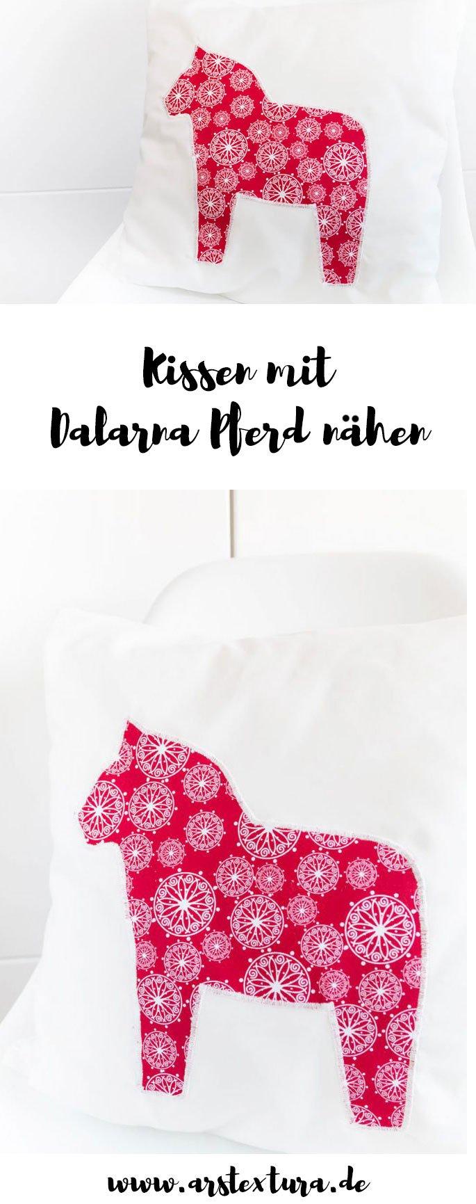 DIY Geschenk: Kissen mit Dalarna Pferd nähen