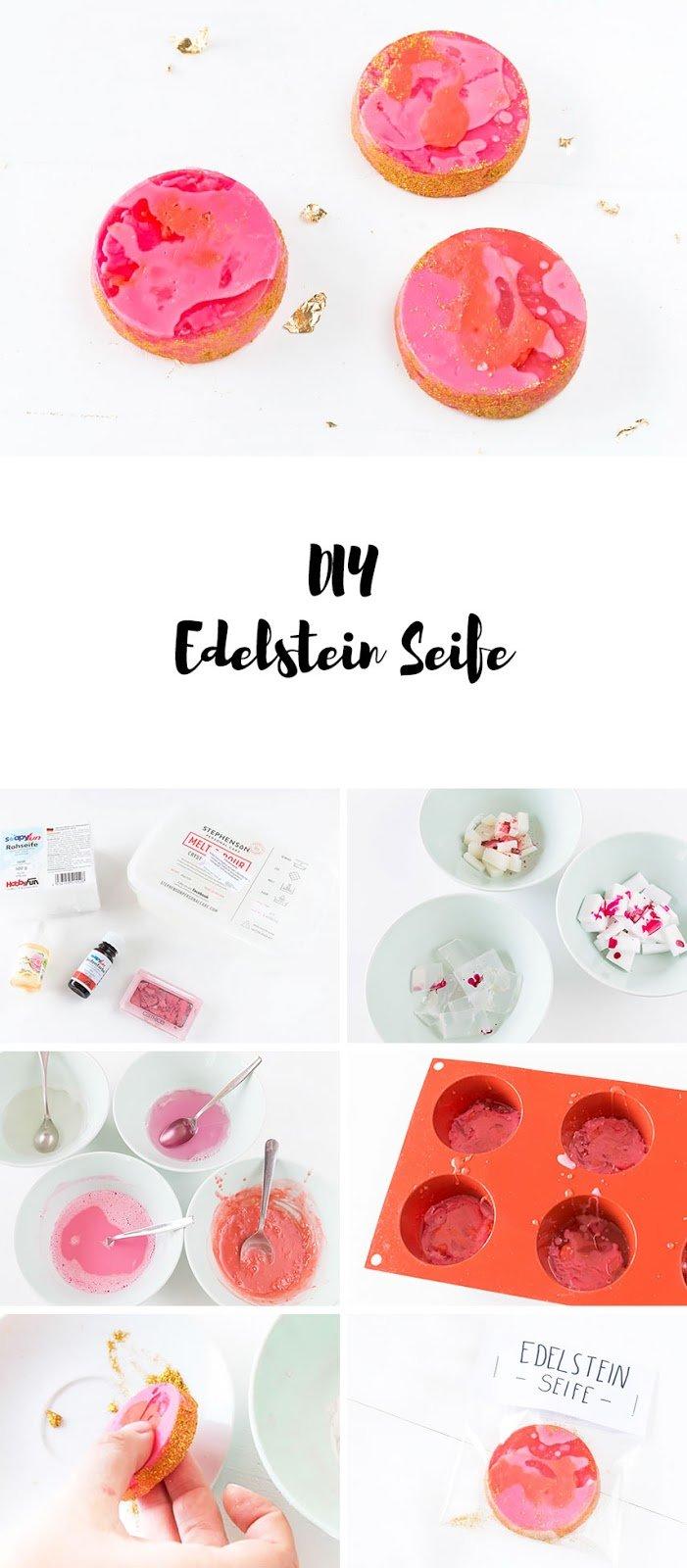 DIY Seife - Edelstein Seife selber machen - ein tolles DIY Geschenk für die beste Freundin