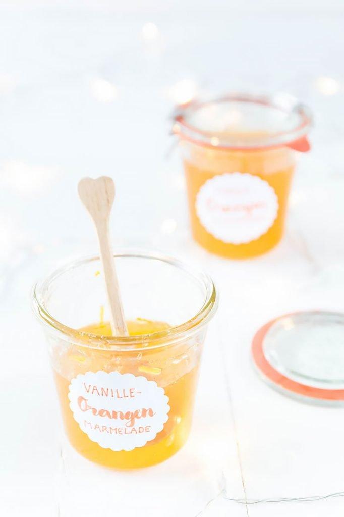 Geschenke aus der Küche - Orangen-Vanille Marmelade