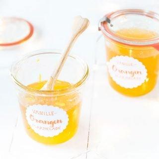 DIY Geschenk aus der Küche: Orangen Marmelade mit Vanille