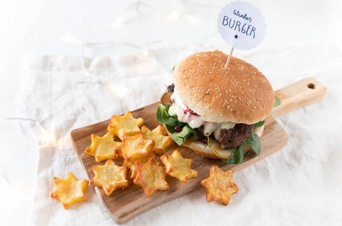 *8* Winterlicher Burger mit Stern Pommes