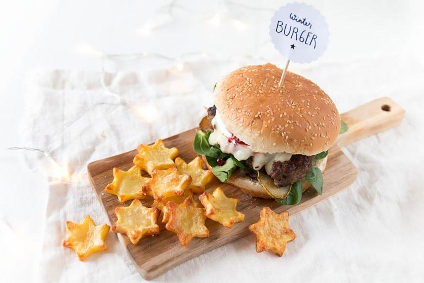 Burger Rezept: Burger mit Stern Pommes