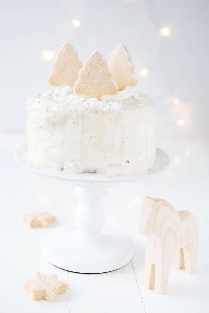Weihnachtliche Orangen-Schoko Torte mit Frischkäsecreme - perfekt für alle, die weder Sahne noch Buttercreme mögen