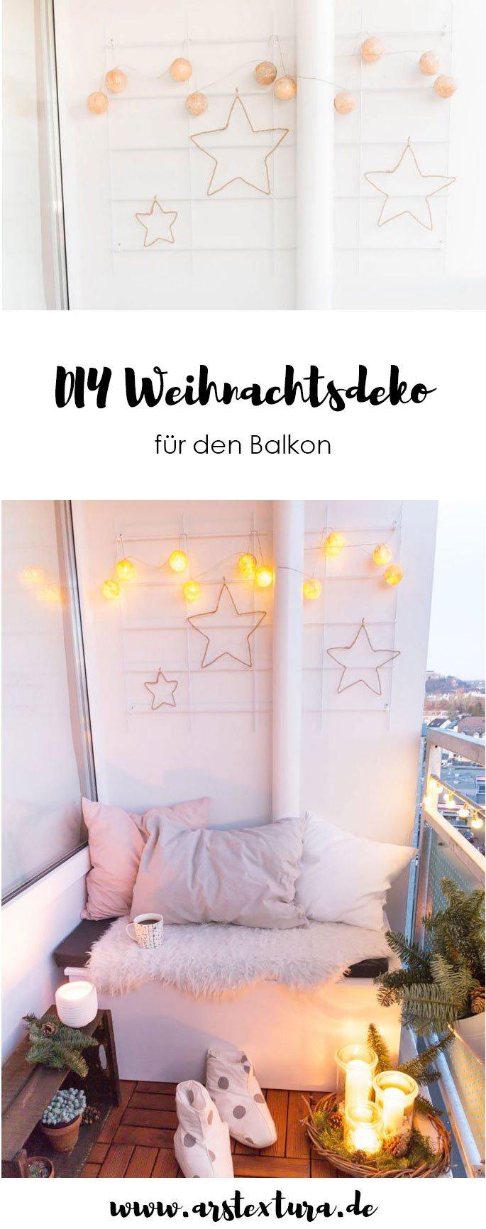 Weihnachtsdeko für den Balkon - ideal fürs Hygge Gefühl