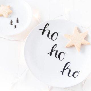 DIY Weihnachtsgeschirr bemalen