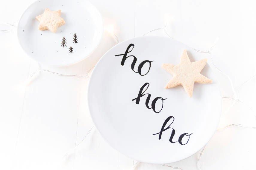 *2* DIY Weihnachtsgeschirr