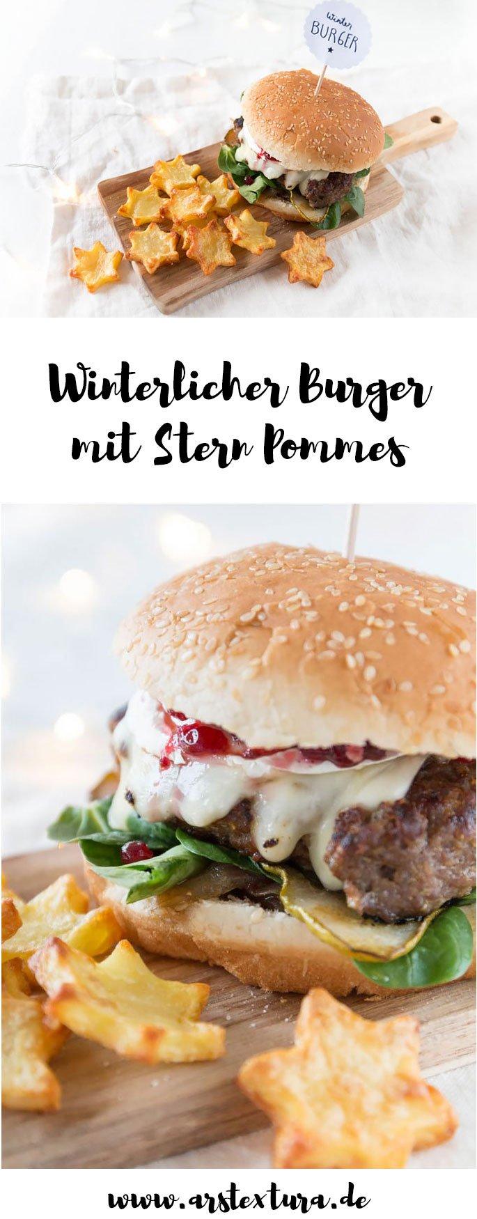 Burger Rezept: Winterlicher Burger mit Stern Pommes