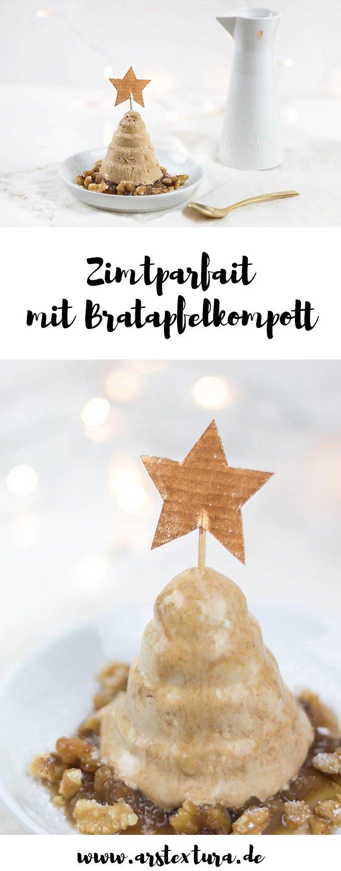 Zimtparfait mit Bratapfelkompott - Weihnachtsrezept