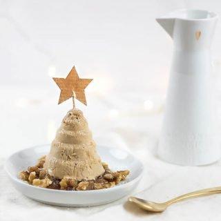 Weihnachtsrezept Zimtparfait mit Bratapfelkompott