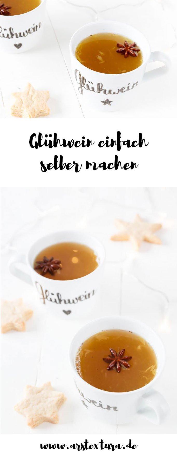 Weißer Glühwein Rezept - ein tolles DIY Geschenk aus der Küche -