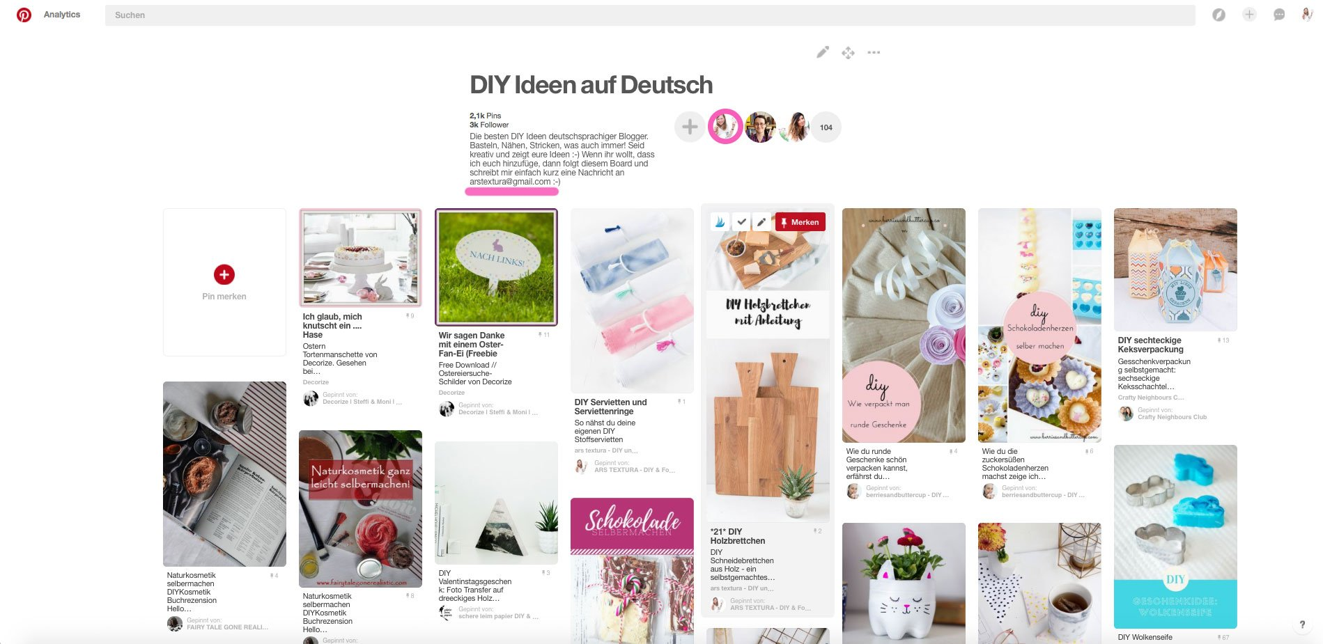 Pinterest Gruppenboards richtig nutzen