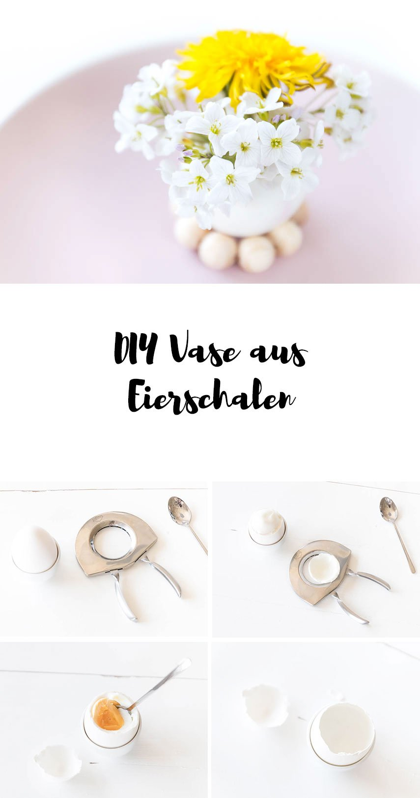 diy tischdeko zu ostern vasen aus eiern basteln ars textura diy blog. Black Bedroom Furniture Sets. Home Design Ideas