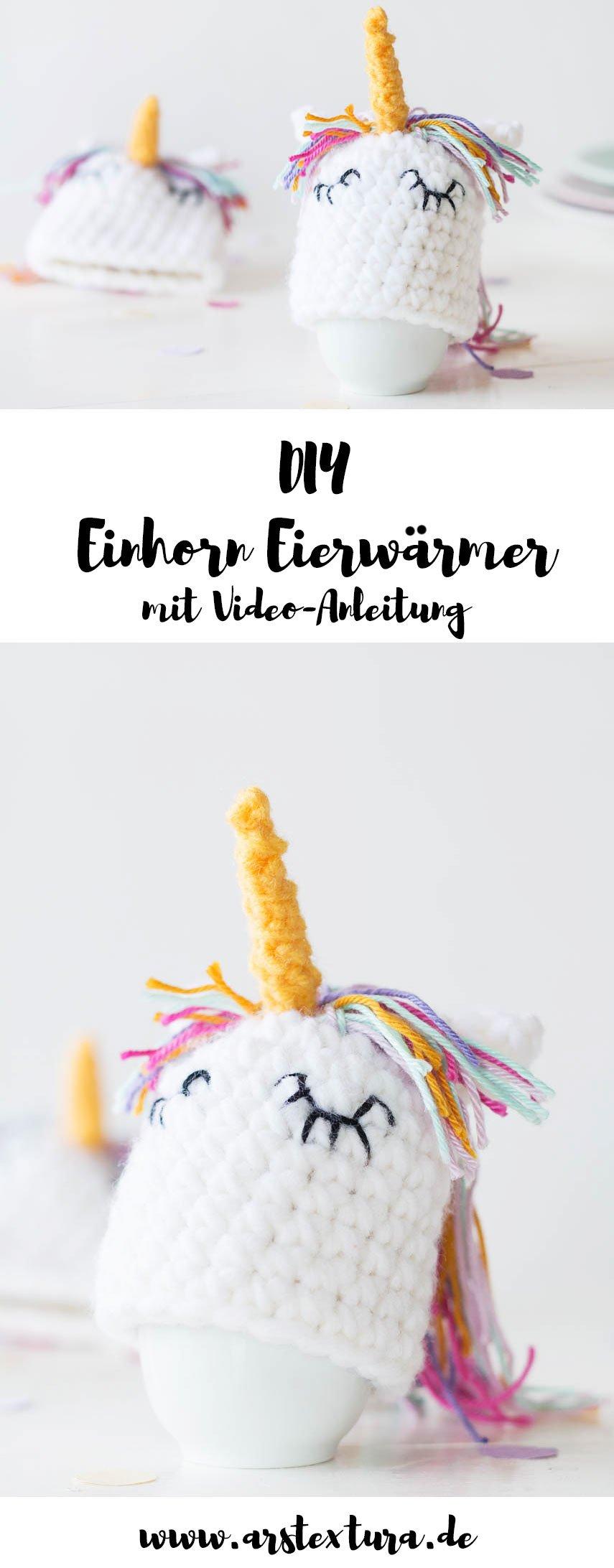Häkeln Anleitungen: DIY Einhorn Eierwärmer zu Ostern - das perfekte DIY Geschenk - so einfach könnt ihr Eierwärmer häkeln | Ostern Dekoration