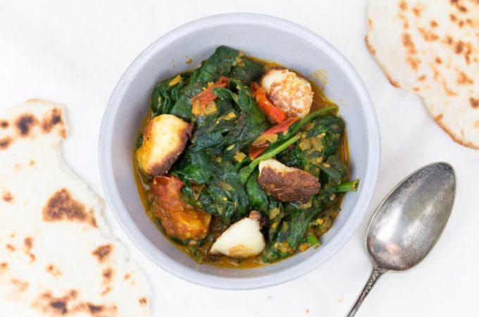 Palak Paneer – Spinat mit selbstgemachtem Paneer Käse