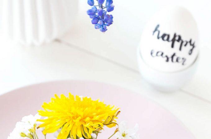 Tischdeko für Ostern – DIY Eier-Vasen