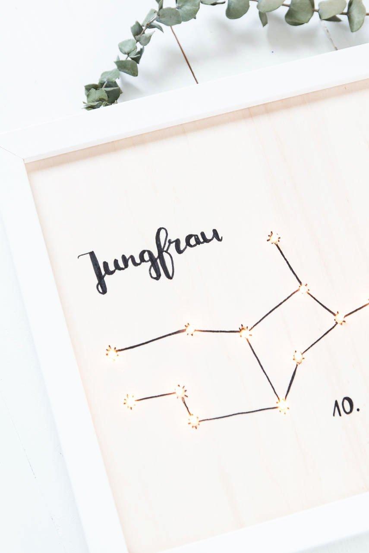 Jungfrau - DIY Lightbox mit Sternzeichen