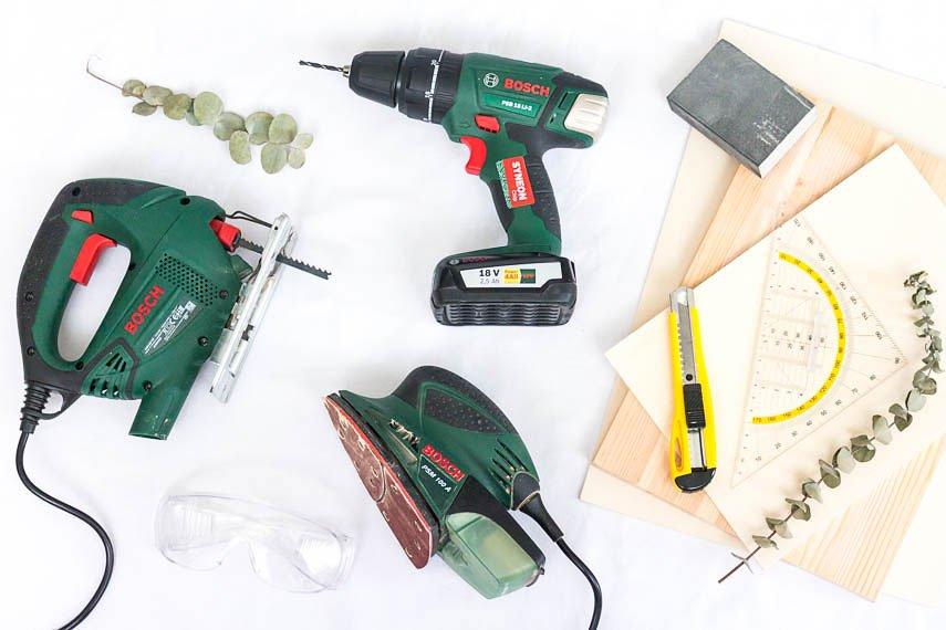 DIY Ideen mit Holz - diese Werkzeuge brauchst du unbedingt!