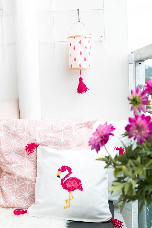 DIY Lampion für den Balkon basteln