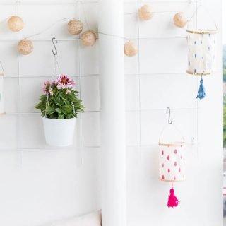 DIY Lampions aus Stickrahmen basteln
