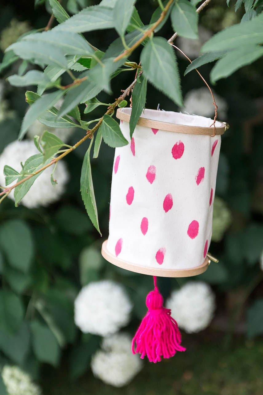 DIY Lampion im Garten