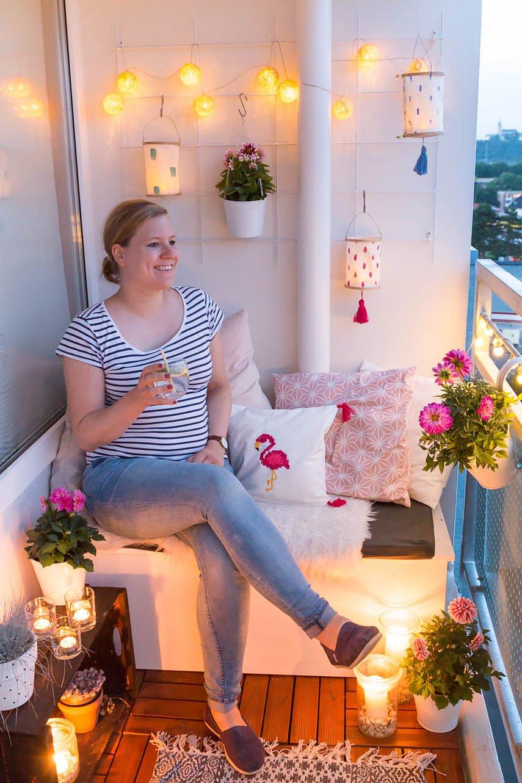 DIY Lampions für den Balkon basteln