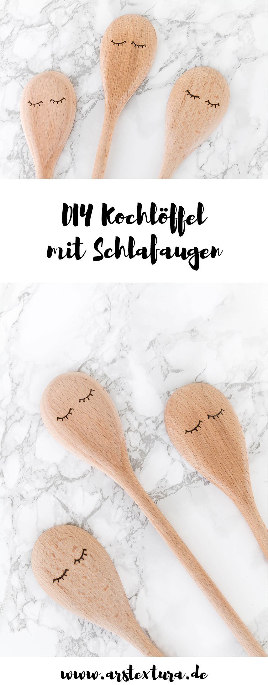 DIY Geschenk: Kochlöffel mit Schlafaugen