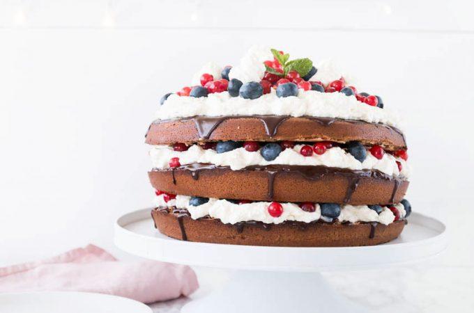 Schokoladen-Beeren Torte