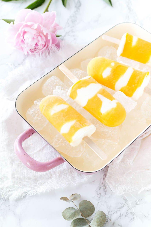 Mango-Joghurt Eis am Stiel - Mango Ice Popsicles