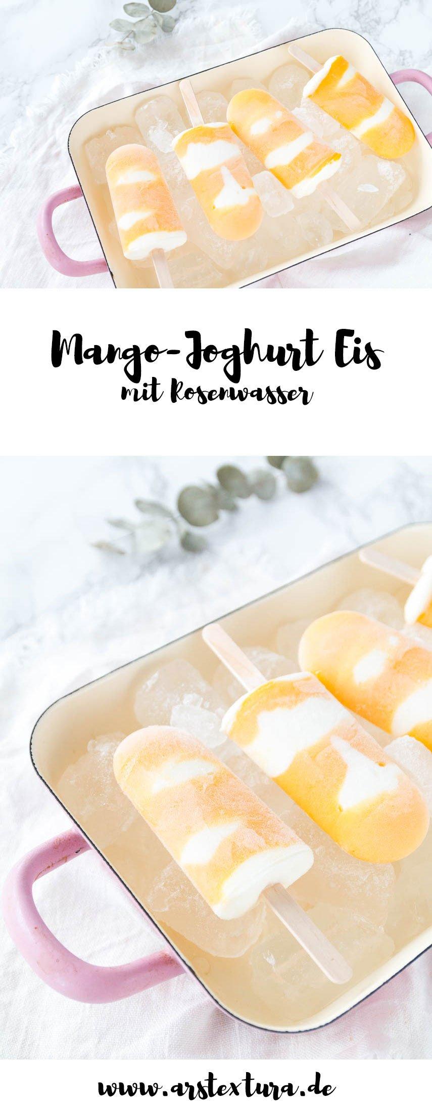 Mango-Joghurt Eis am Stiel - Mango Popsicles