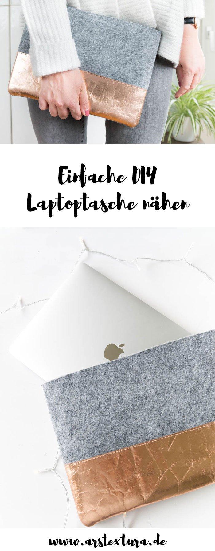 DIY Geschenk | Laptoptasche aus Filz nähen - ein tolles DIY Projekt für Anfänger