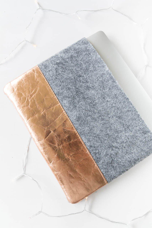 DIY Ideen | Einfache Laptoptasche aus Filz nähen - ein Seele für das Macbook