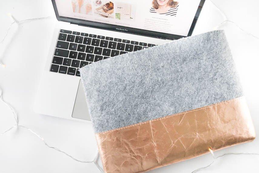 Einfache Laptoptasche aus Filz nähen